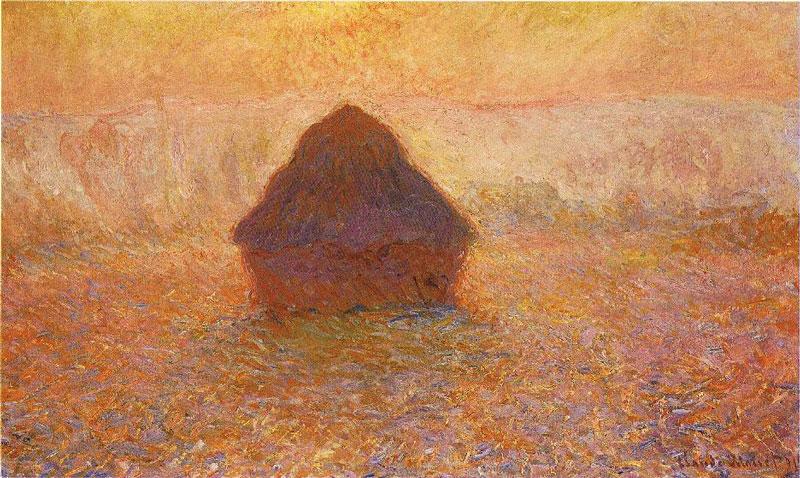 Monet Haystack Sun int he Mist