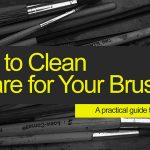 How to clean art brushes