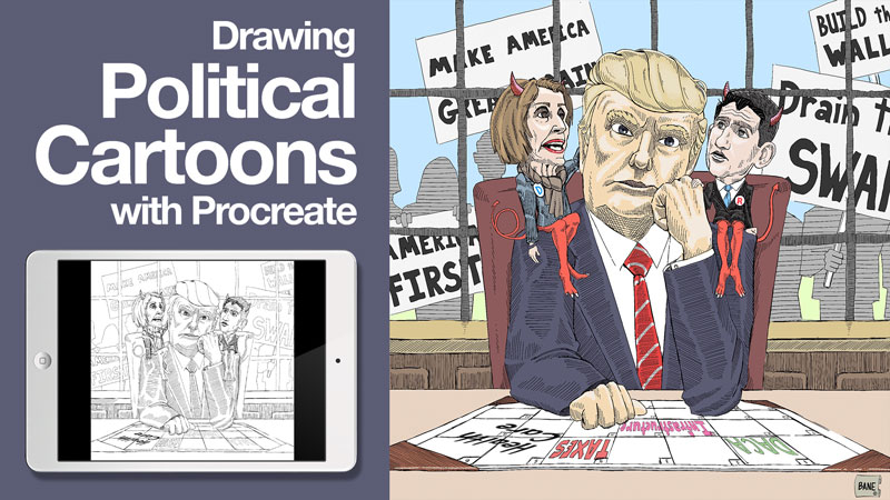 Drawing Political Cartoons with Procreate