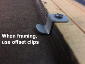 Picture framing hardware