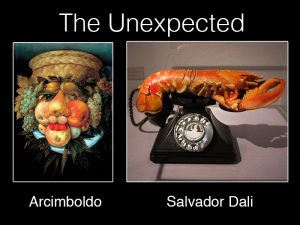 Arcimboldo and Dali Artwork