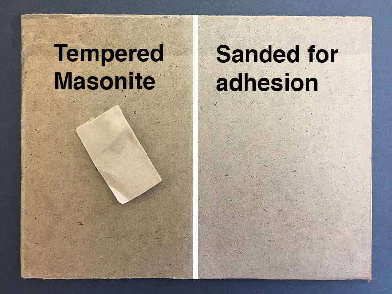 A panel with sandpaper