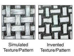 Simulated and invented texture and pattern