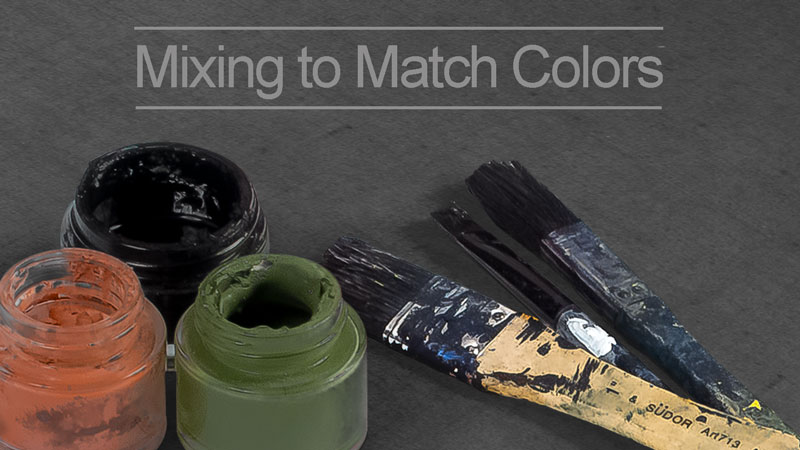 How to Match Colors By Mixing