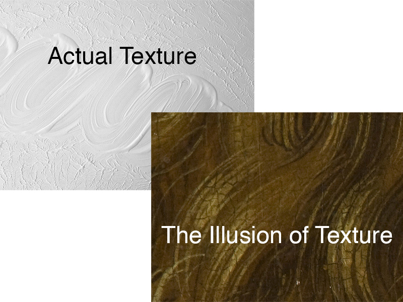 Illusion of texture vs. actual texture