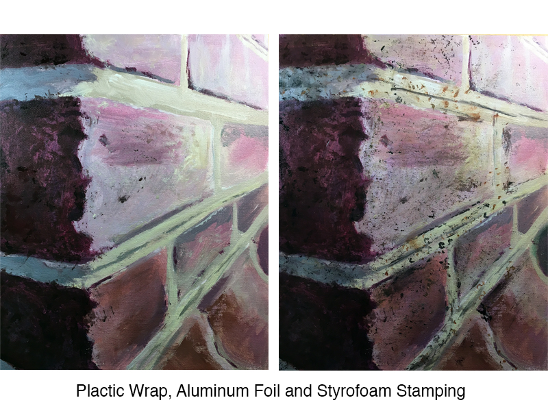 Using nontraditional tools to paint texture