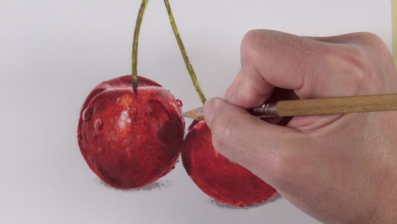 Burnishing colored pencil applications