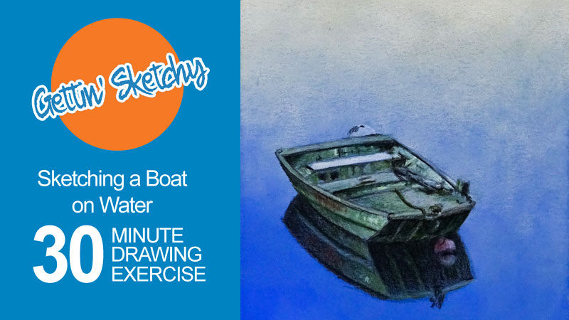 Sketch a Boat on the Water