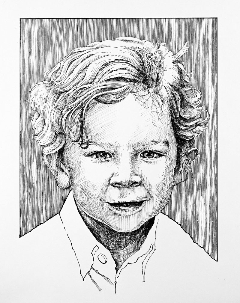 Pen and Ink Lesson - Portrait Drawing