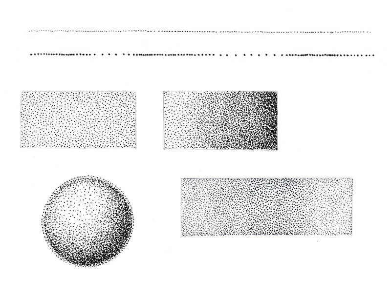 Stippling Drawing Exercise