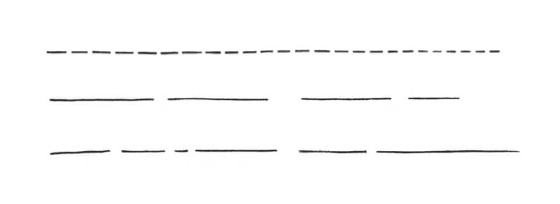 Drawing lines with gaps exercise