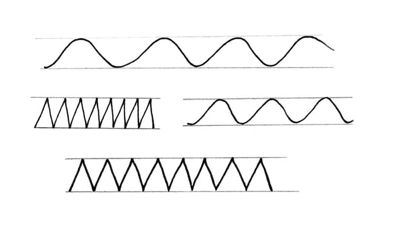 Drawing wavy and zigzag lines