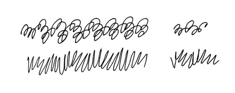 Drawing scribble lines