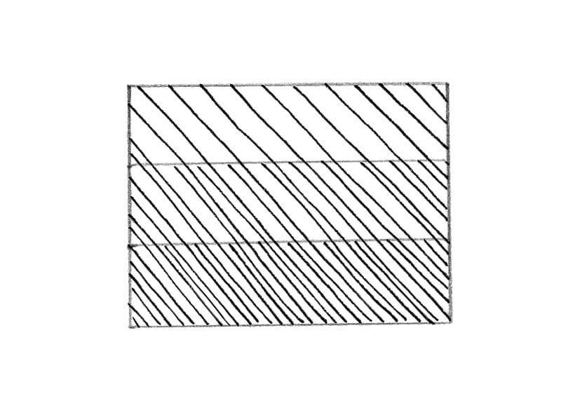 Diagonal hatching