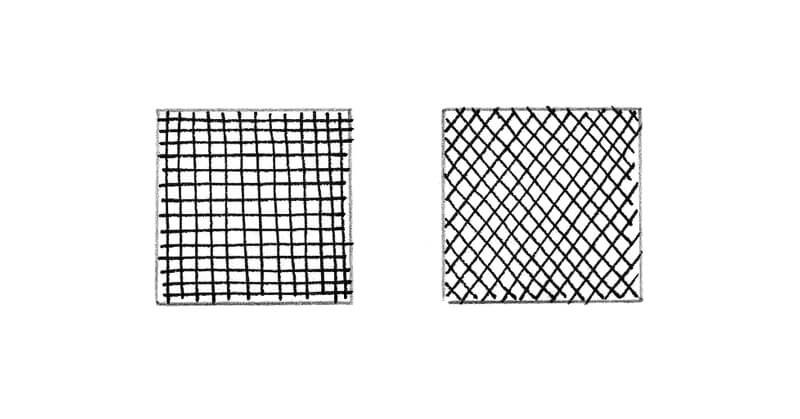 Cross hatching drawing exercise