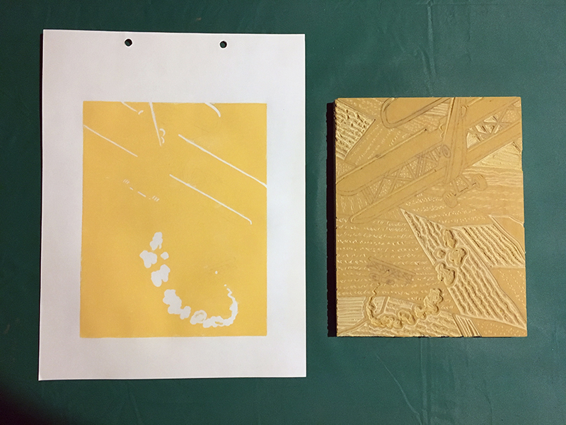 Reduction print after second color