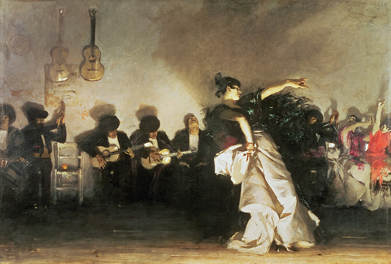 John Singer Sargent showing movement in a painting