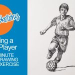 How to Sketch a Soccer Player