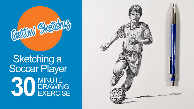 Timed Drawing Exercise - Figure Drawing - Soccer Player