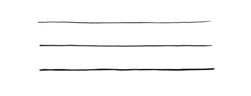 Lines created with various ink liner widths