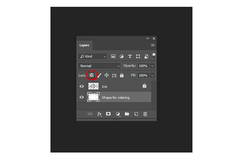Locking layers in Photoshop
