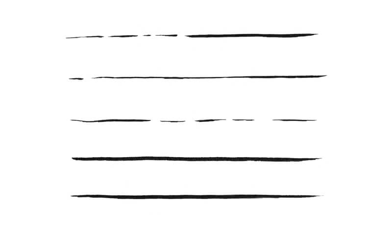 Line exercises with a brush pen