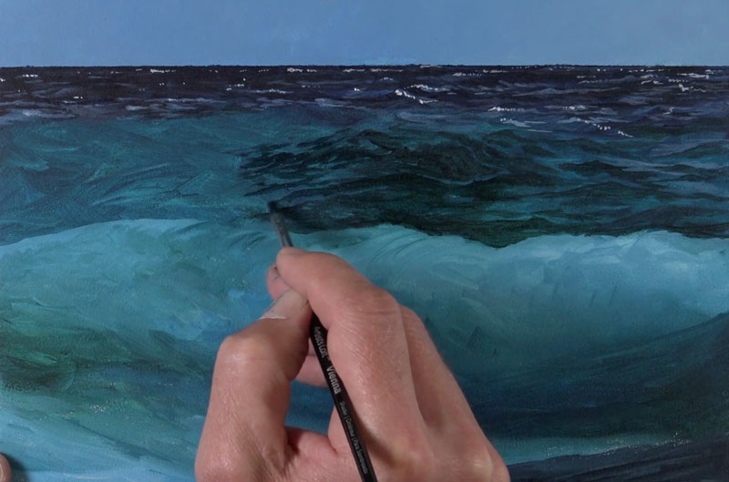 Painting Highlights and Shadows on Distant Waves