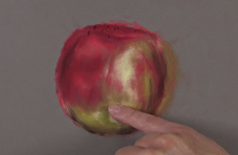 Blending colors on the apple