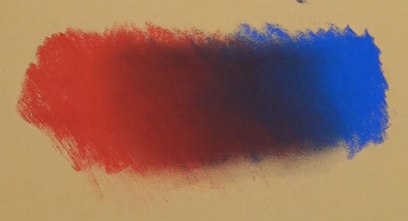 Blending pastels on Pastelmat