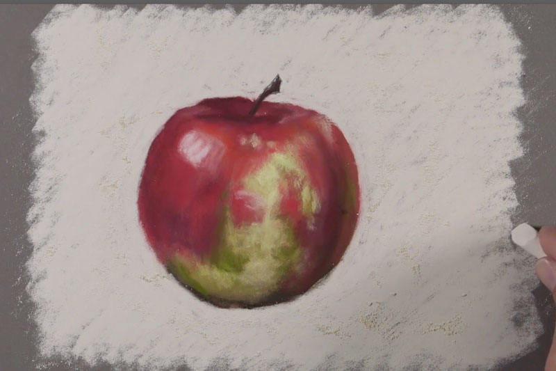 Adding the background behind the apple