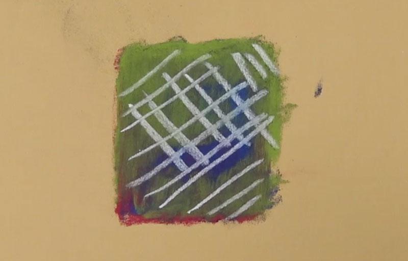 Layering pastels on Pastelmat