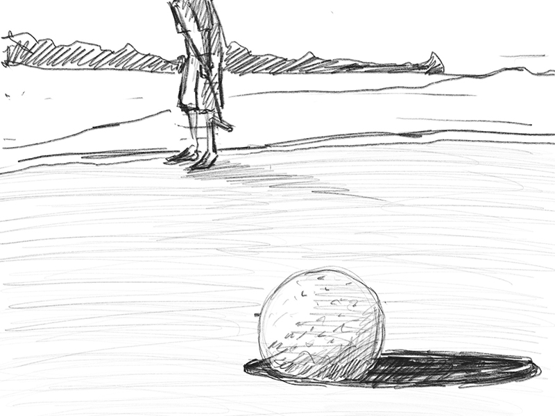 Sketch of a golfer