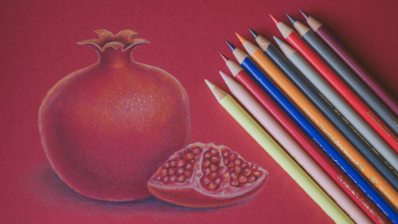 Try something new with colored pencils