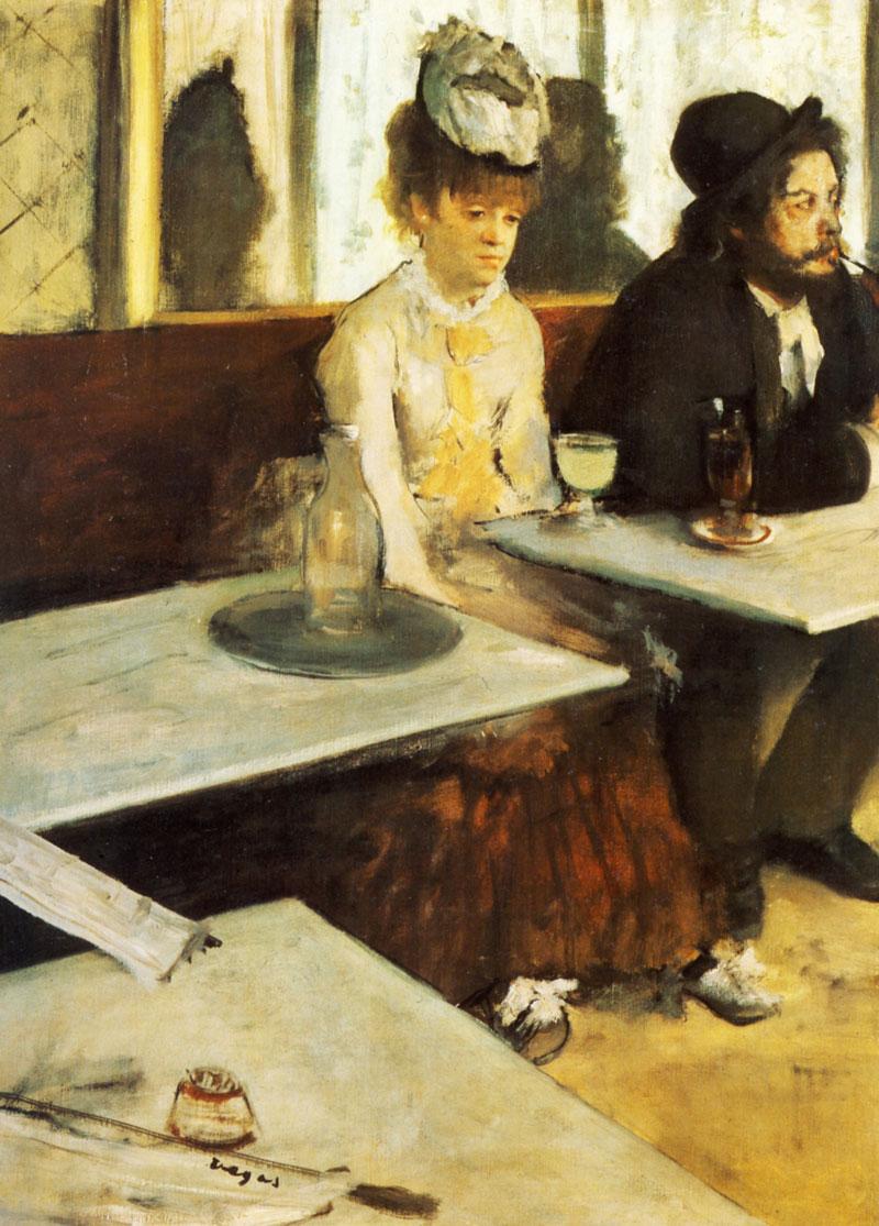 "Edgar Degas ""El bebedor de ajenjo"" 1876"