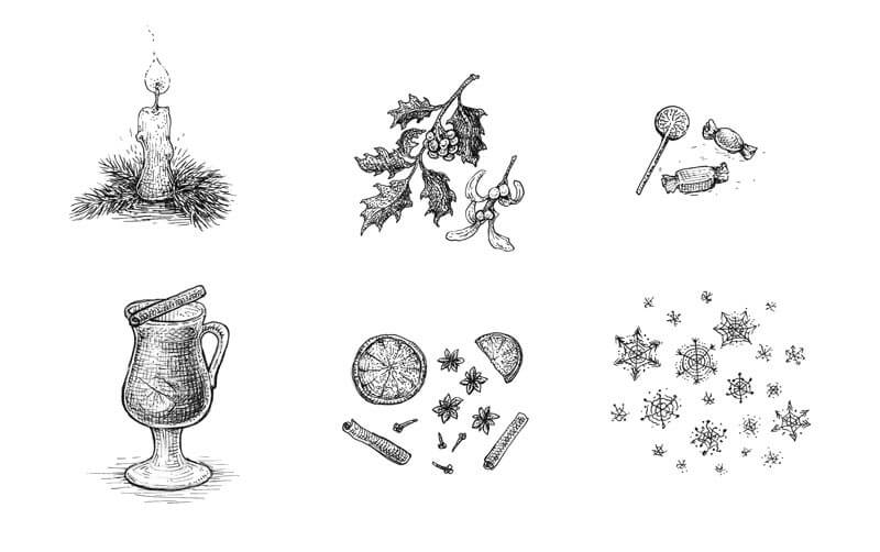 More Holiday inspired drawing ideas