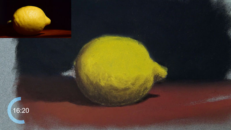 Adding core shadows on the body of the lemon