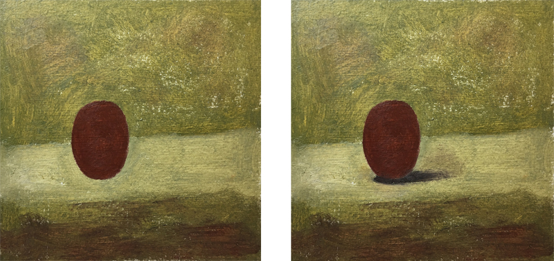 Painting the shape of a grape