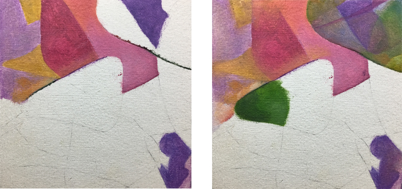 Painting exercise 4 - mimicking watercolor step 1 and 2