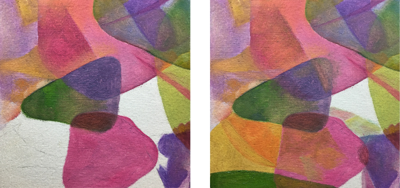 Painting exercise 4 - Mimicking watercolor step 3 and 4