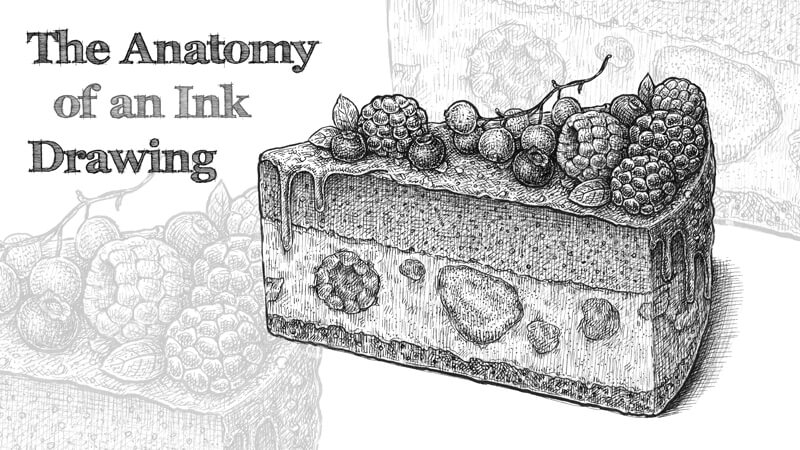 The anatomy of an ink drawing