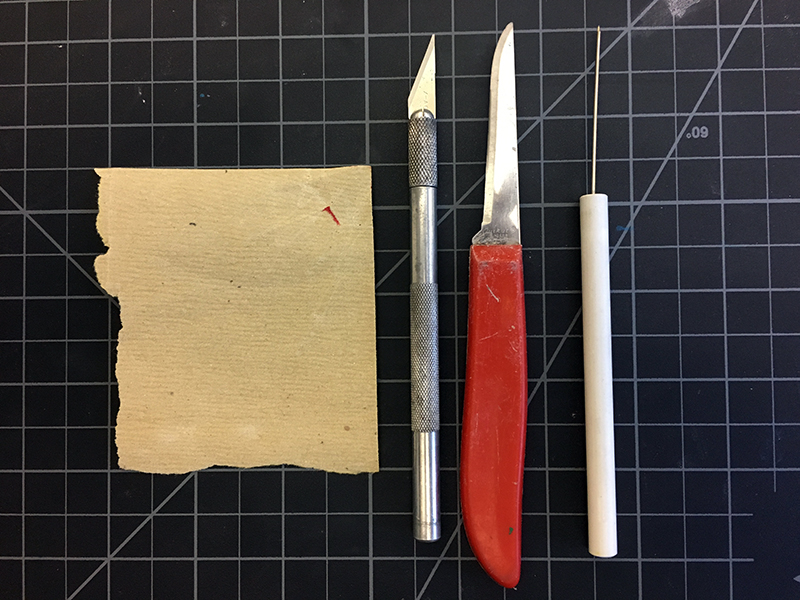 Tools for carving clay