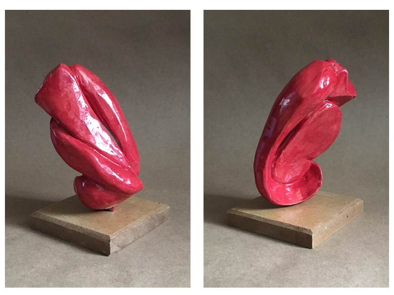 Non-objective clay sculpture