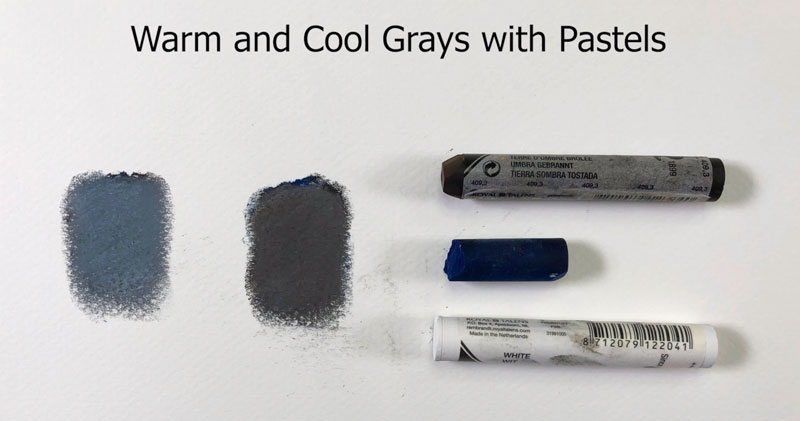 Warm and cool grays with pastels