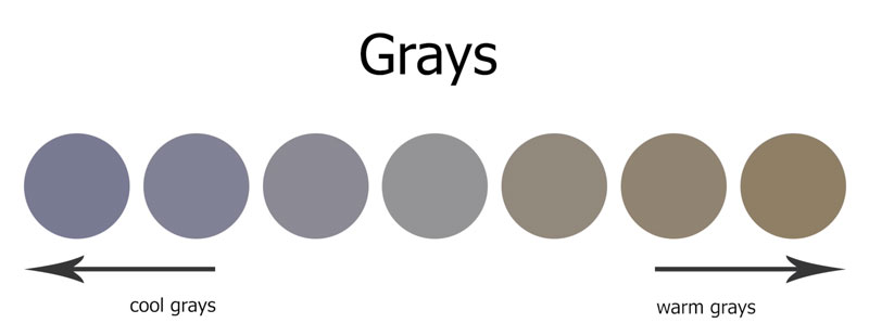 Warm and cool grays
