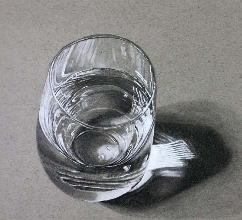 How to Draw a Glass of Water