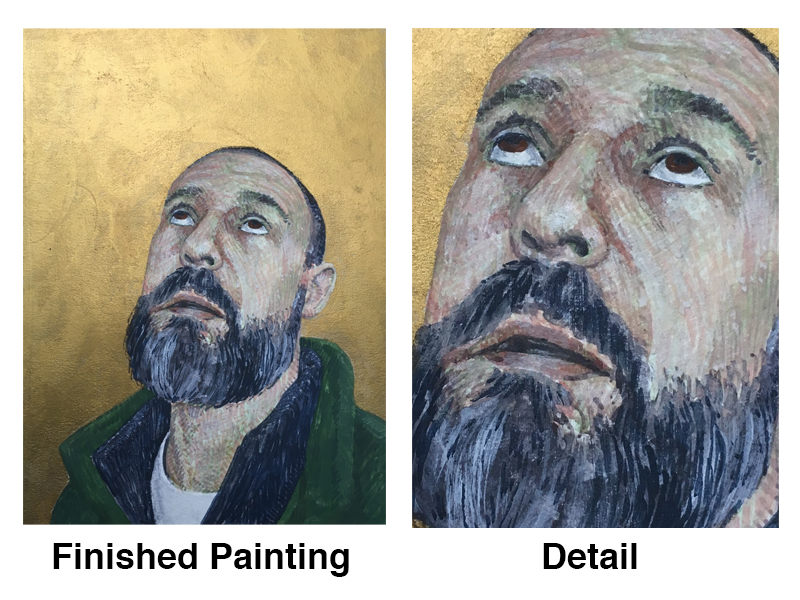 Portrait with Egg Tempera