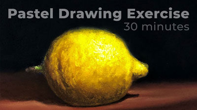 Sketching Exercise - Lemon with Pastels