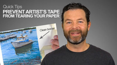 Prevent Artist Tape From Tearing Your Paper