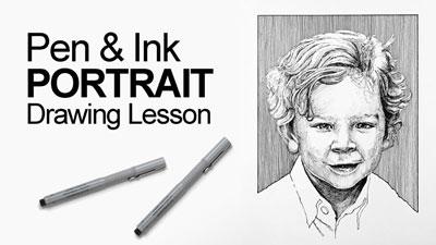Pen and Ink Portrait Lesson
