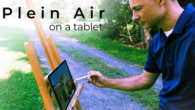 Plein Air Painting on a Tablet